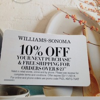 image relating to William Sonoma Coupons Printable titled William Sonoma Discount codes Printable Discount coupons DB 2016